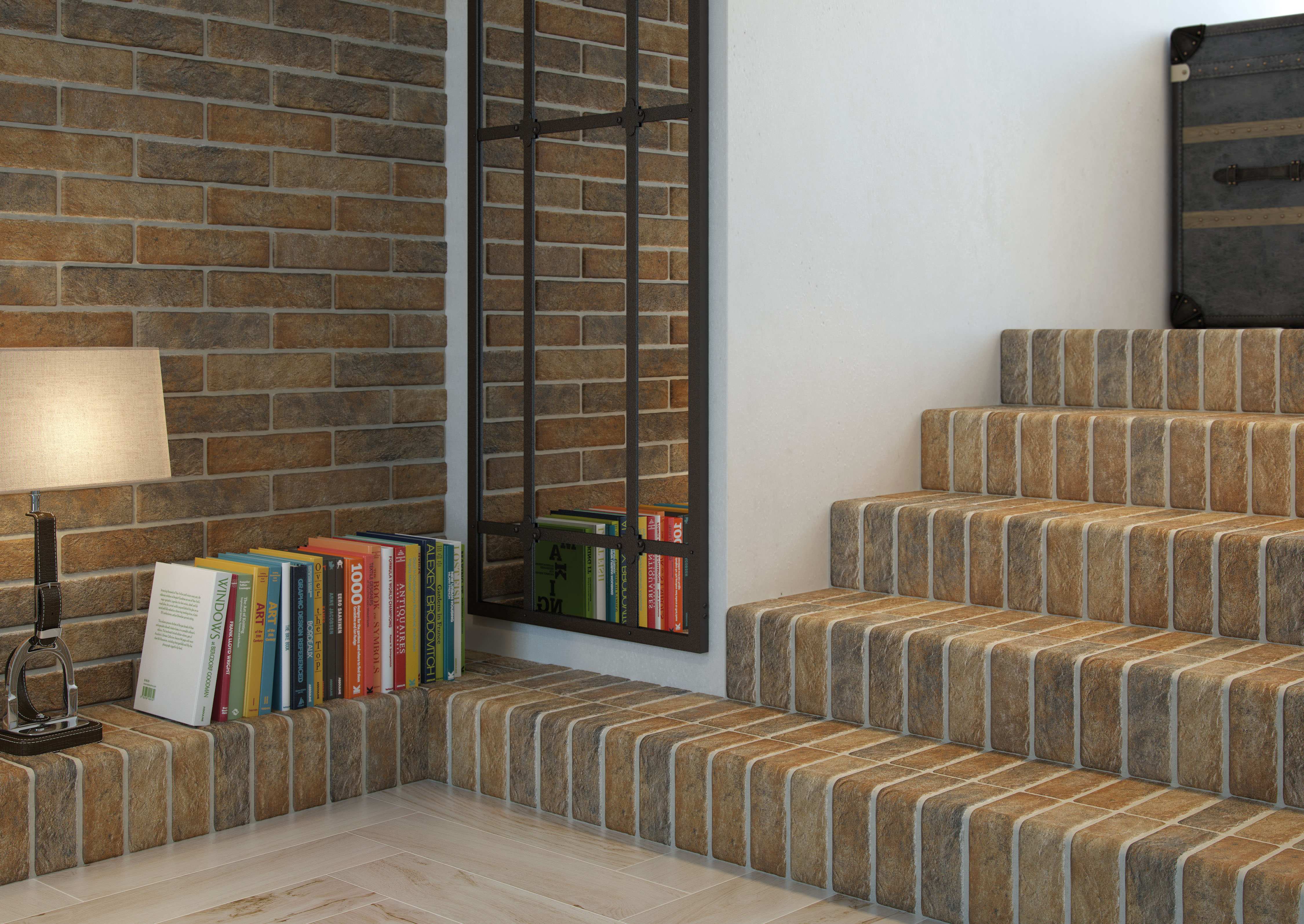 Muralla Red Brick Wall Tile Muralla Beige Brick Wall Tile