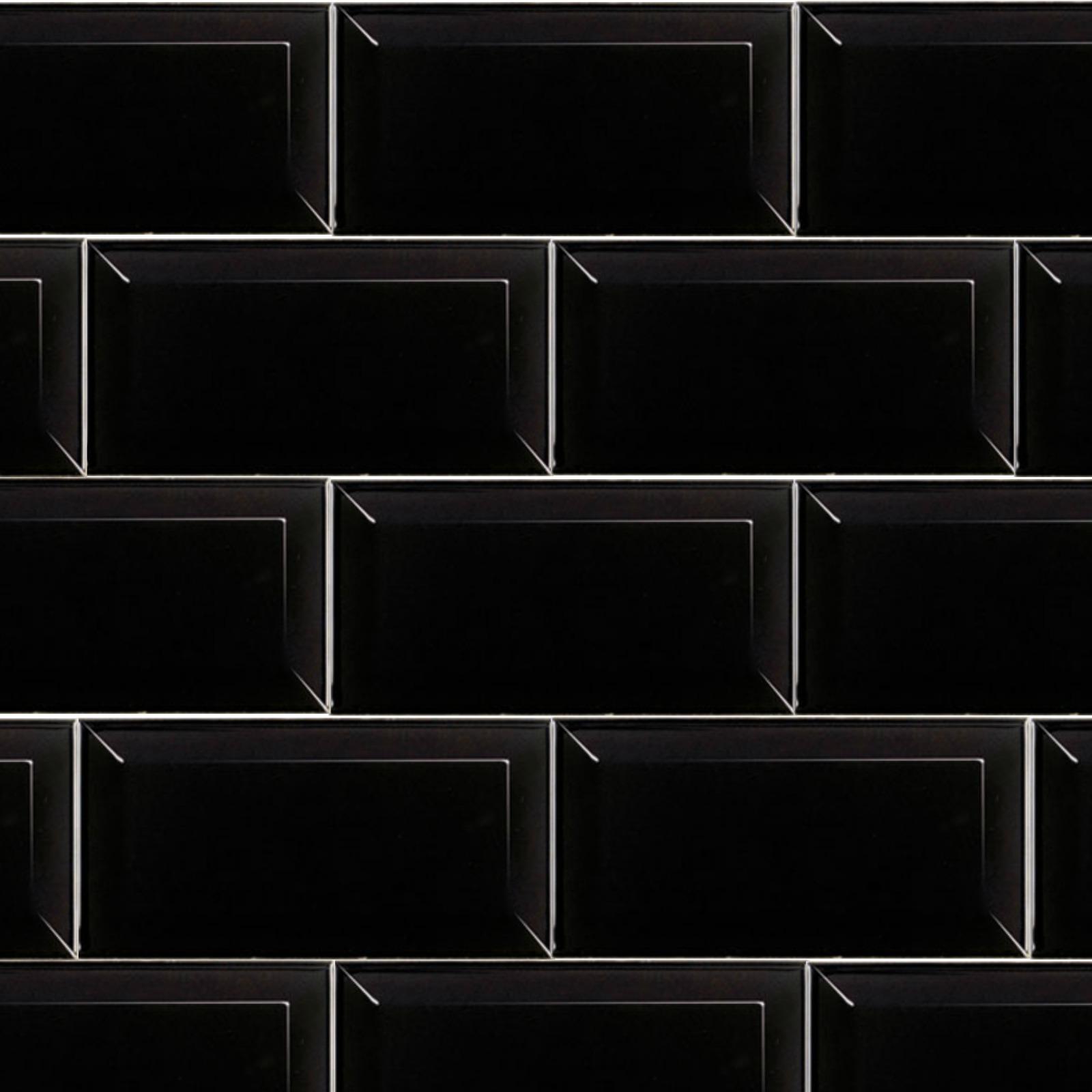 Metro Black 10cm X 20cm Wall Tile Fylde Tiles