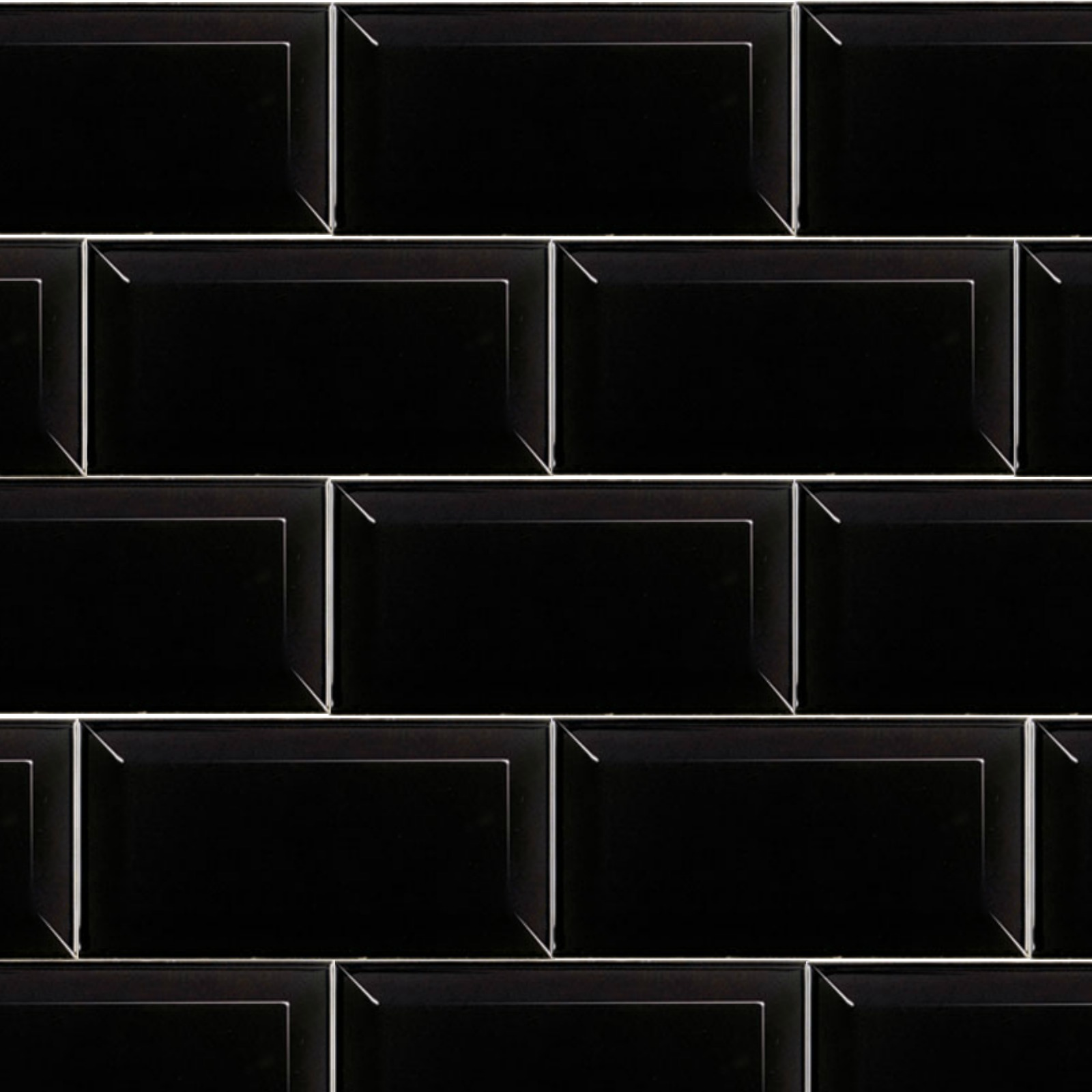 Subway Black 10cm x 20cm Wall Tile - FYLDE TILES