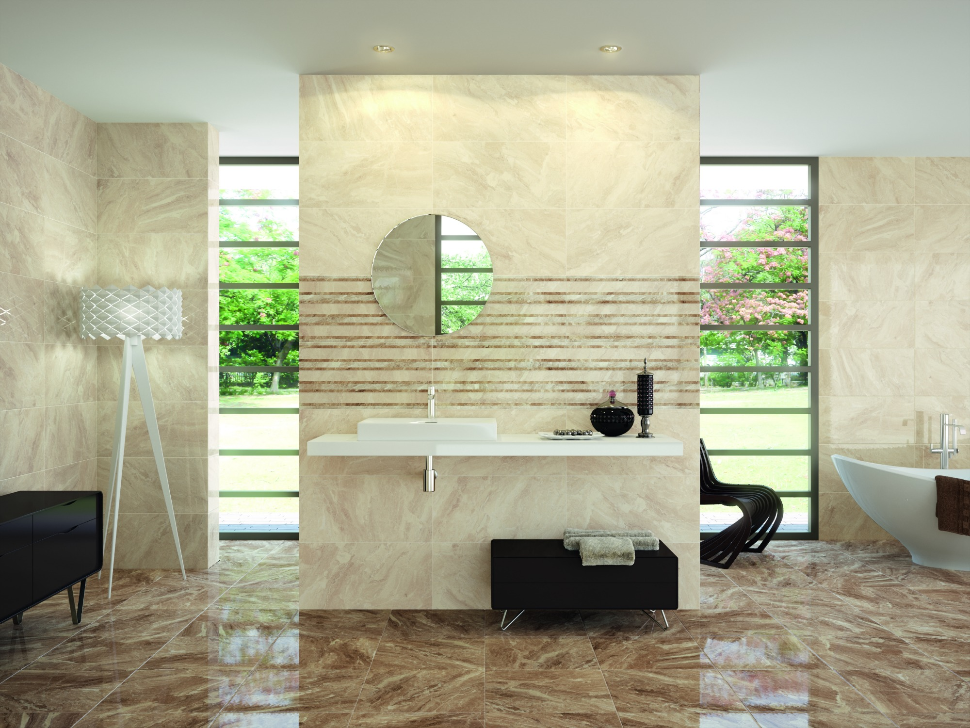 Aries Brown Floor Tile Fylde Tiles