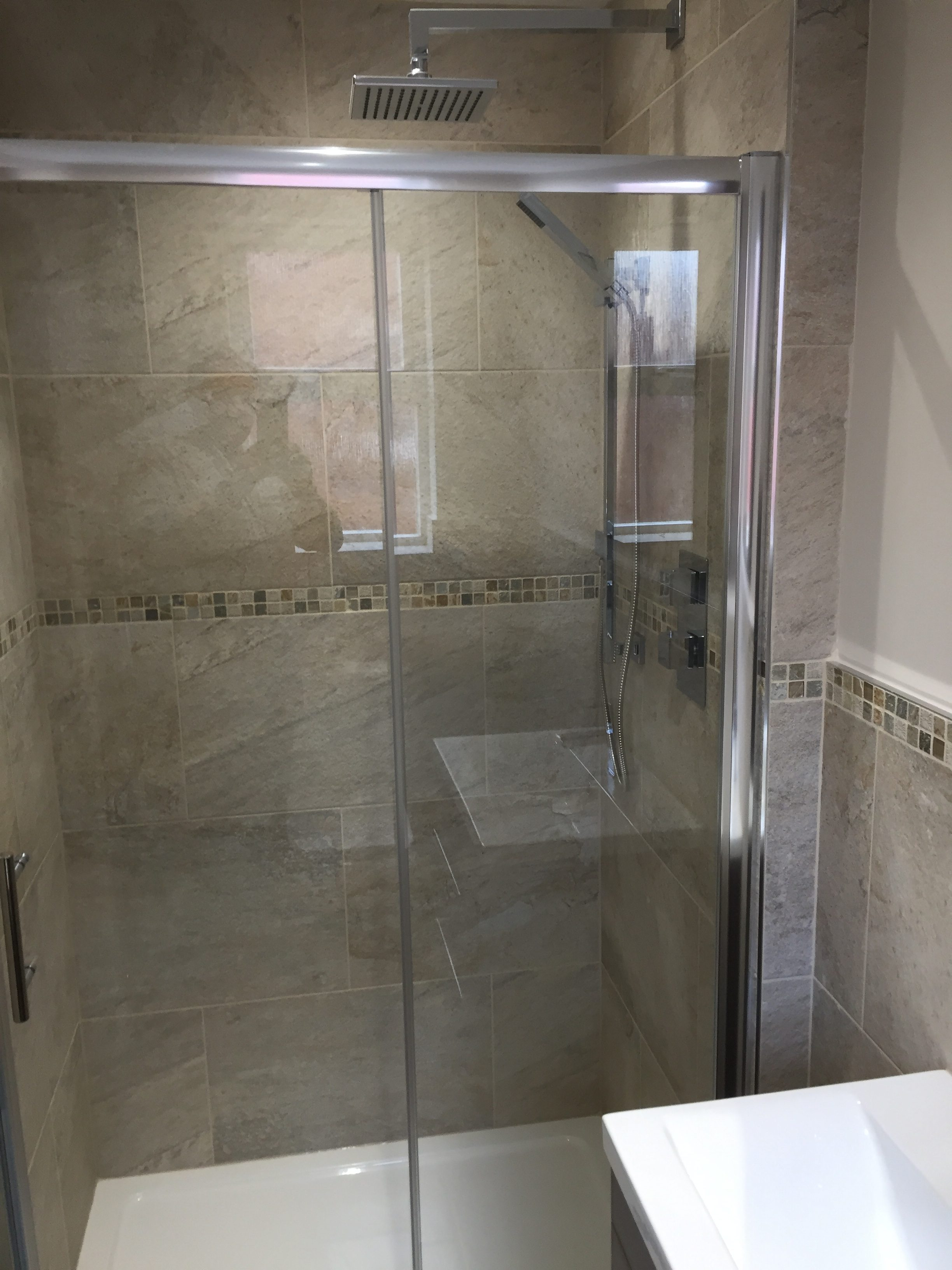 Tile work in bathrooms - The Tiling Work Has Been Completed By Graham Knight 07781 7728031 And The Job Was Managed By Adrian Lewis Joinery 07885 217024