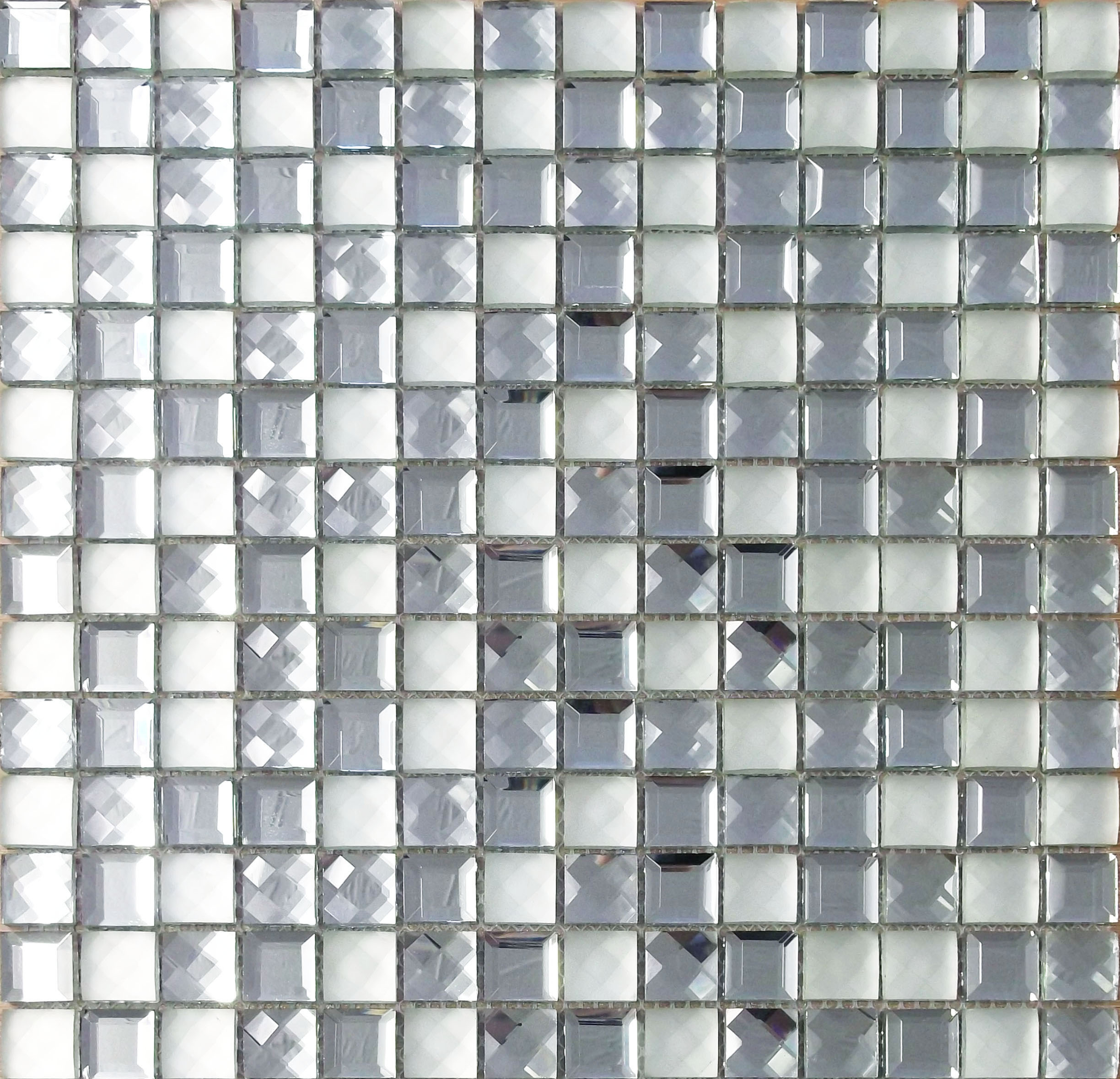 Glamour Silver Mosaic Fylde Tiles
