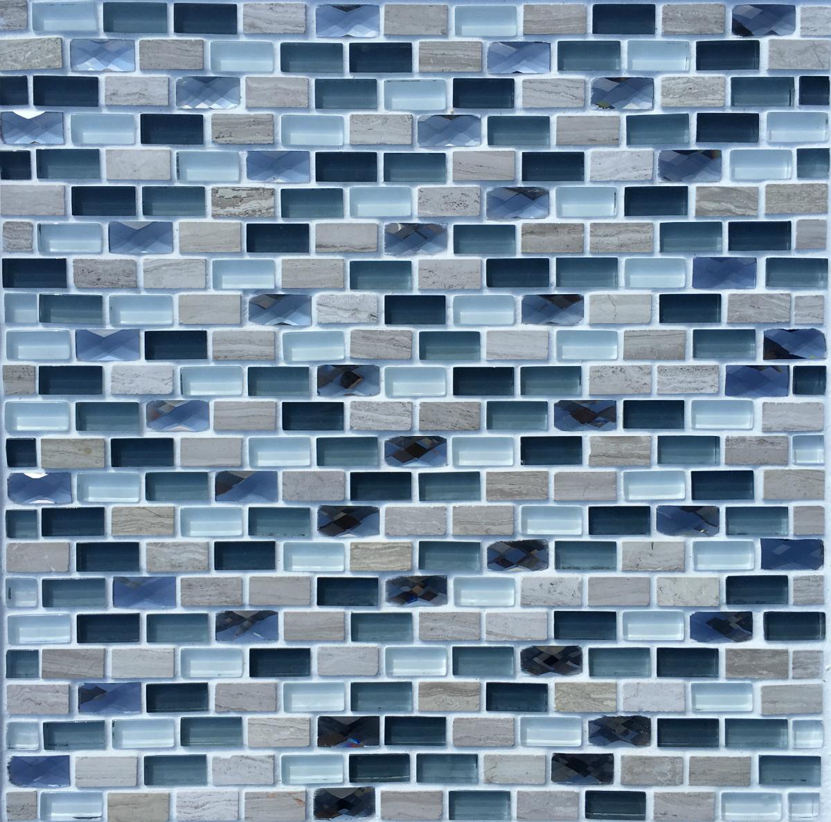 Saphire Lead Mosaic - FYLDE TILES