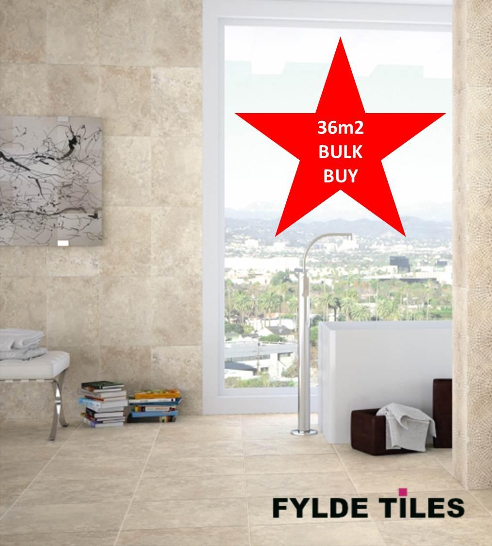 36m2 BULK BUY Cream Beige Marble Effect 30cm x 41.6cm Bathroom ...