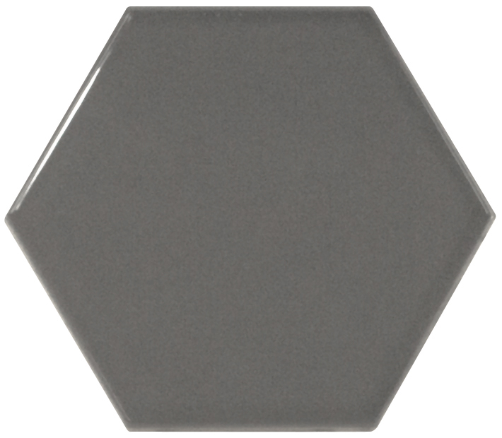 Orton dark grey hexagon wall tile fylde tiles for 12x10 floor register